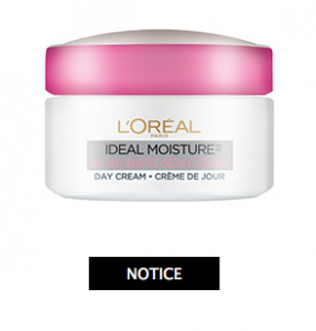 L'Oreal Ideal Moisture Dry and Sensitive Day Cream Recalled